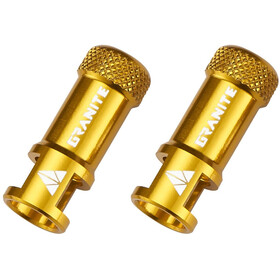 Granite CNC Valve Cap with Removing Function 2 Pieces gold